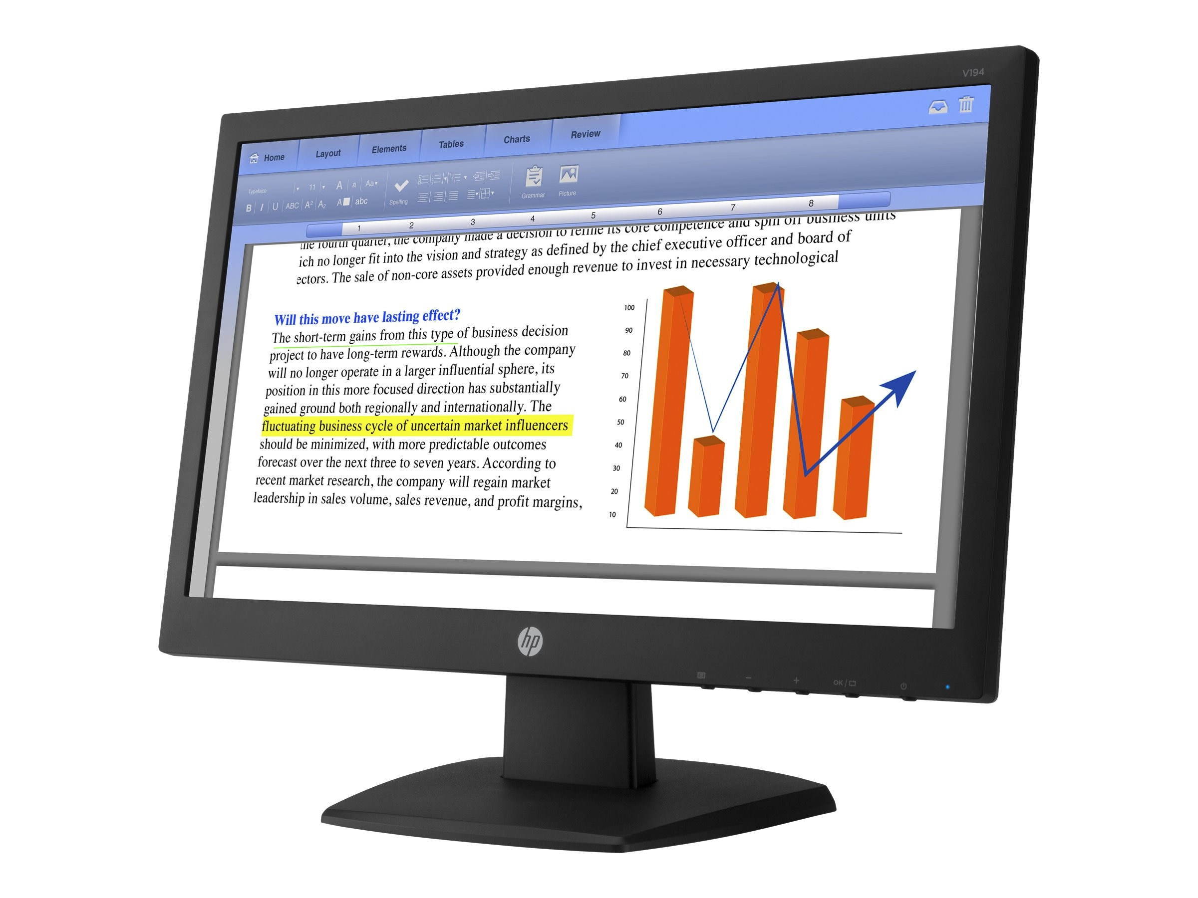 HP 18.5 V194 LED-LCD Monitor, Black, V5E94AA#ABA