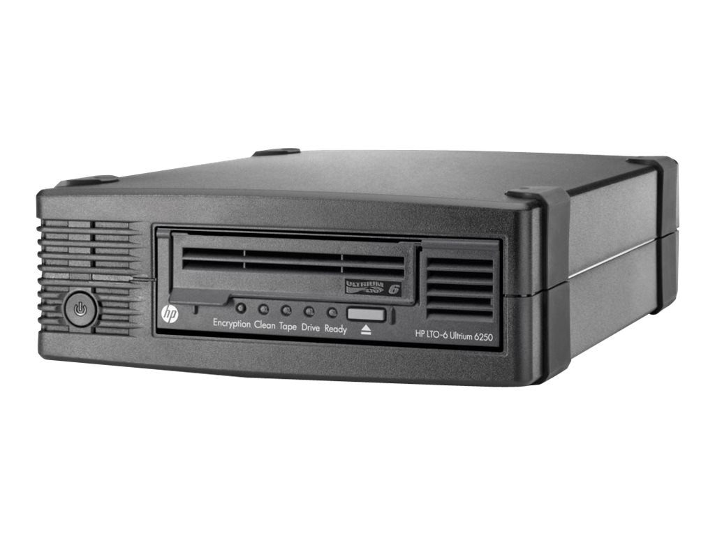 HPE StoreEver LTO-6 Ultrium 6250 External Tape Drive, EH970A, 15131564, Tape Drives