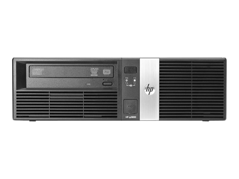 HP Smart Buy Retail System rp5800 i3-2120 3.3GHz 4GB RAM 500GB HDD Win 7 Pro 64-bit, E1Z38UT#ABA