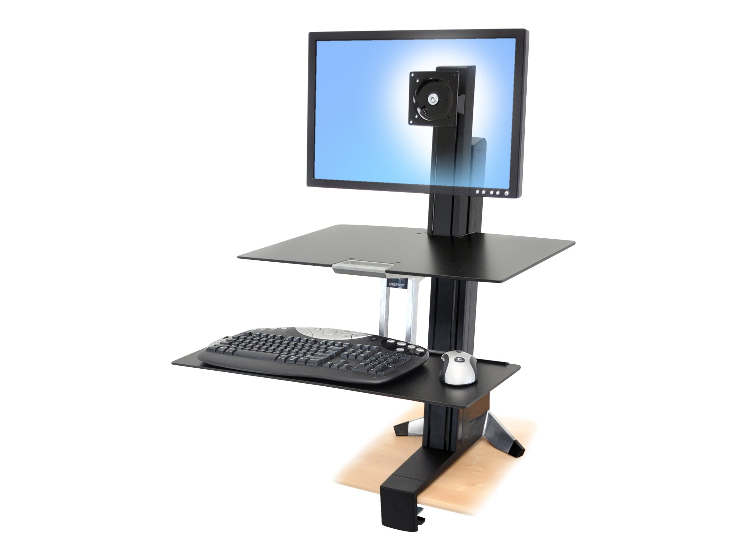 Ergotron WorkFit-S, Single HD with Worksurface+, 33-351-200