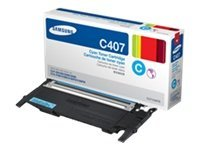 Samsung Cyan Toner Cartridge for CLP-325W & CLX-3185FW, CLT-C407S, 12370703, Toner and Imaging Components