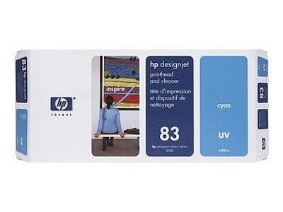 HP 83 Cyan UV printhead DesignJet 5000 & 5000ps, C4961A, 328164, Ink Cartridges & Ink Refill Kits
