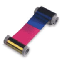 Fargo Electronics YMCKO Clr Ribbon Resin Blk, 81733, 425345, Printer Ribbons