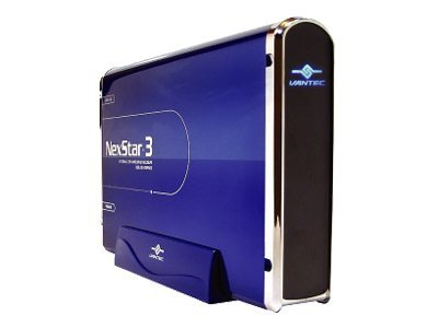 Vantec NexStar 3 3.5 IDE to USB 2.0 External Hard Drive Enclosure - Midnight Blue, NST-360U2-BL