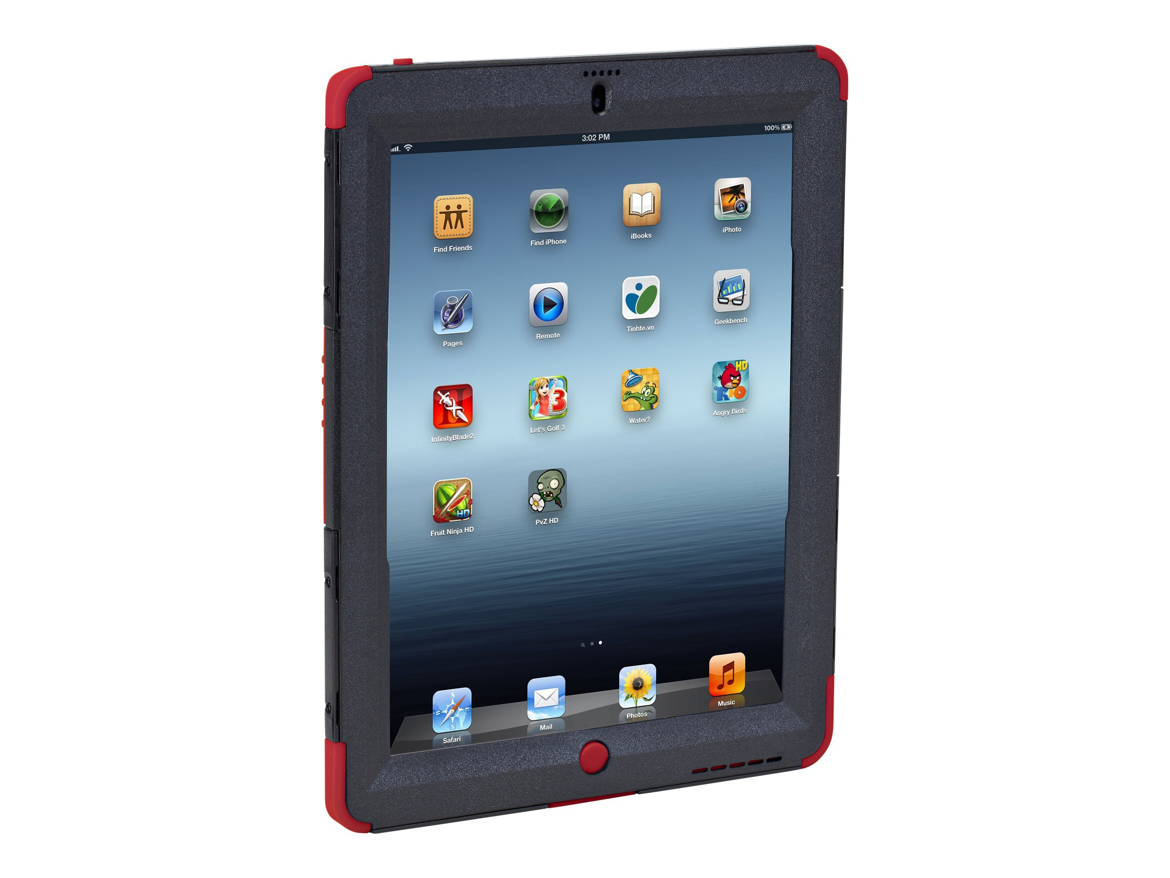 Targus Rugged Max Pro Safeport Case for iPad 3 4, Red, THD04403US
