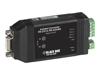 Black Box RS-232 to RS-422 485 Converter with Opto-Isolation