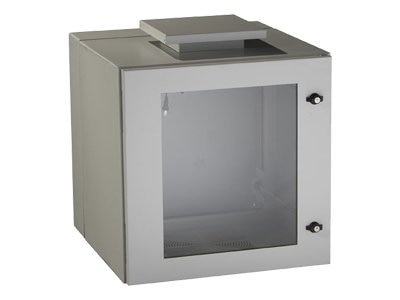 Black Box ClimateCab NEMA 12 Wallmount Cabinet with Fan, Double-Hinged, Beige, RMW5100AF, 12226007, Racks & Cabinets