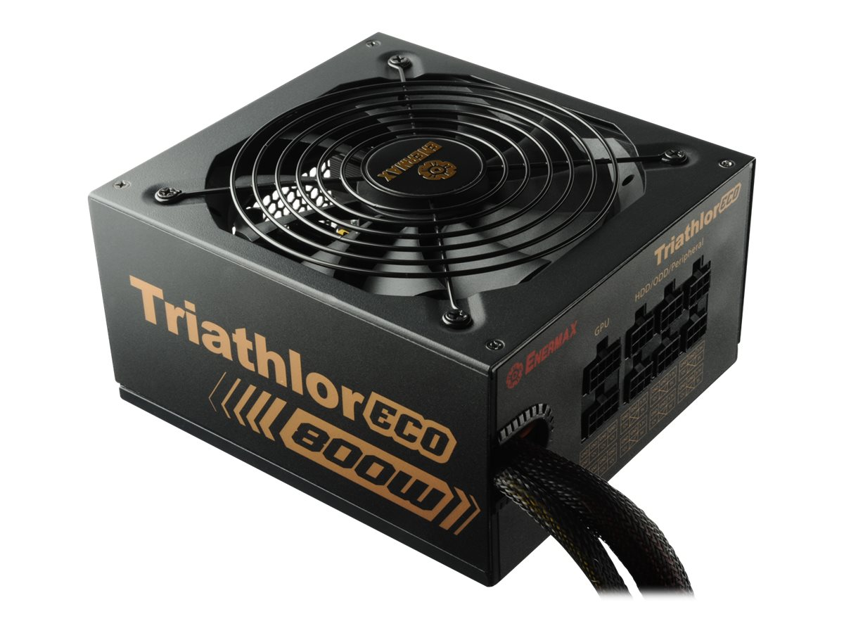 Enermax Triathlor ECO Power Supply 800W 80-Plus Bronze Certified Single +12V Rail SLI CrossFire Support, ETL800EWT-M