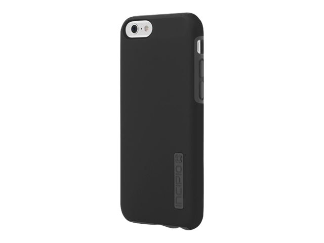 Incipio DualPro Hard Shell Case w  Impact-Absorbing Core for iPhone 6 6s, Black Gray, IPH-1179-BLKGRY