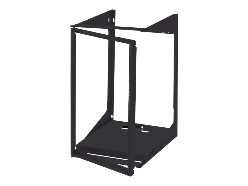 C2G Swing Out Wall Mount Open Frame Rack, 19U x 18d, 75lb Load Rating, Black