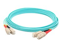 ACP-EP SC-SC OM4 Multimode LOMM Duplex Fiber Patch Cable, Aqua, 30m, ADD-SC-SC-30M5OM4