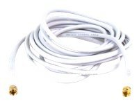 Belkin RG59 Coaxial Cable, Gold Connectors, White, 16ft, F8V304TT16WHT-A, 11216771, Cables