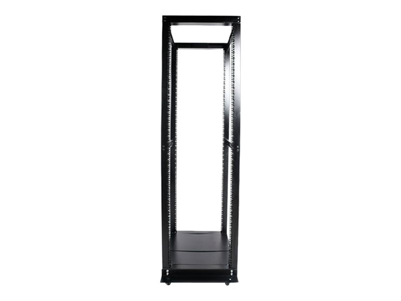 StarTech.com 42U Adjustable 4 Post Open Server Equipment Rack Cabinet, 4POSTRACKBK, 466039, Racks & Cabinets