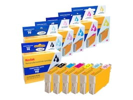 Kodak T098120-BCS Ink Cartridge Combo Pack for Epson Artisan 700 & 710, T098120-BCS-KD, 31286718, Ink Cartridges & Ink Refill Kits