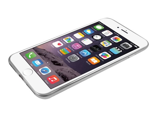 Macally Ultra Thin Soft Transparent Case w  Matte Silver Trim for iPhone 7
