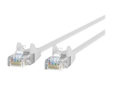 Belkin Cat5e Patch Cable, White, 25ft, Snagless, A3L791-25-WHT-S