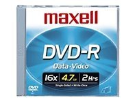 Maxell 16x 4.7GB DVD-R Media (10-pack Jewel Cases), 638004, 6703701, DVD Media