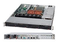 Supermicro 1U SC815 UI O Chassis, 700W RPSU, Black, CSE-815TQ-R700UB, 11643896, Cases - Systems/Servers