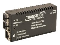 Transition Mini 000BASET To 1000BASESX SC MM 220 550M 3.3V - NA, M/GE-T-SX-01-NA, 16327964, Network Transceivers