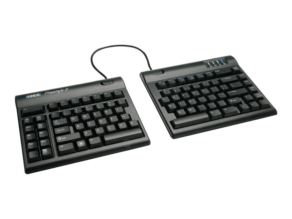 Kinesis Freestyle2 Keyboard for PC, 20 Separation, KB800PB-US-20, 14260591, Keyboards & Keypads