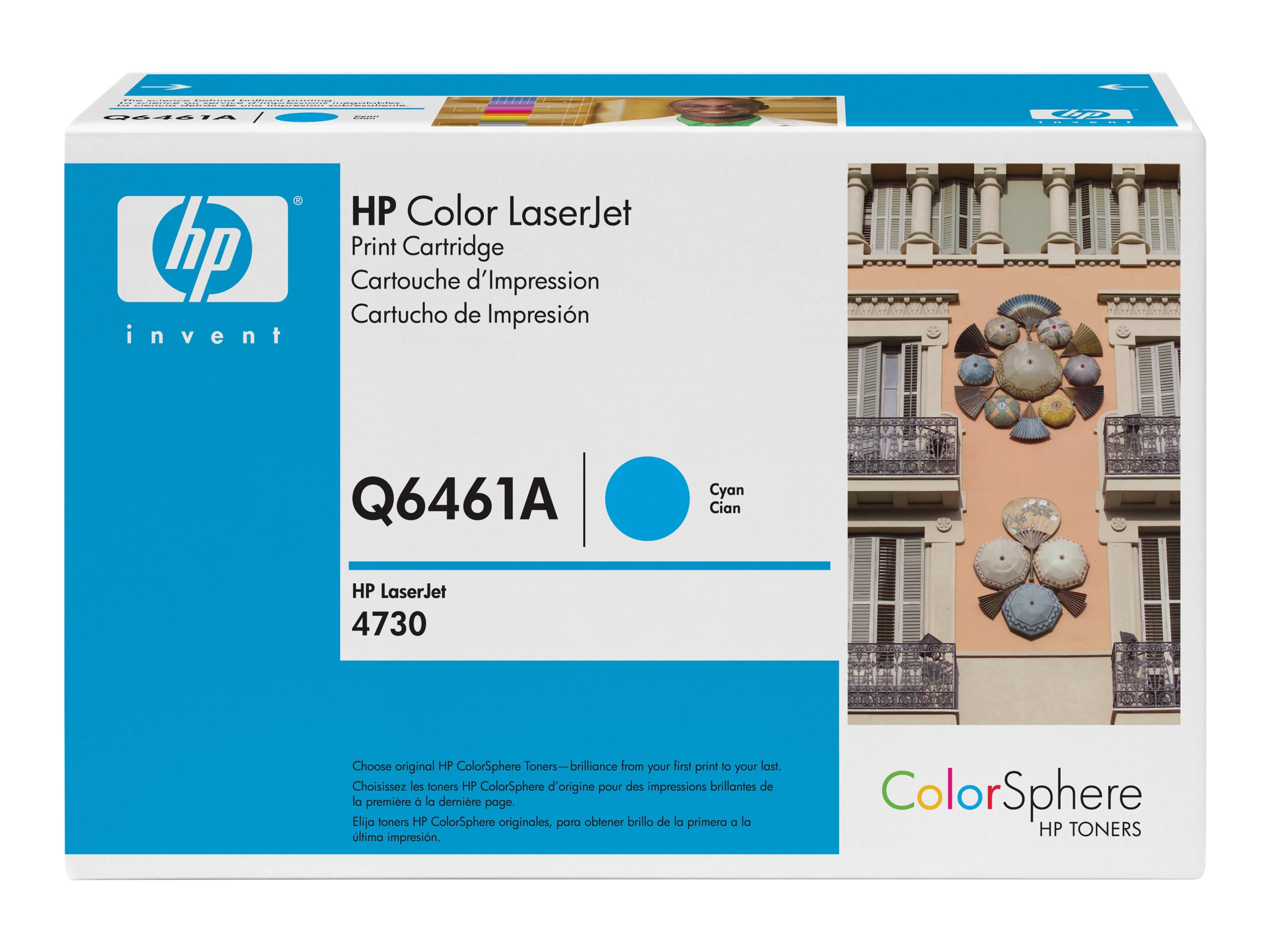 HP 644A (Q6461A) Cyan Original LaserJet Toner Cartridge for HP LaserJet 4730 MFP Series