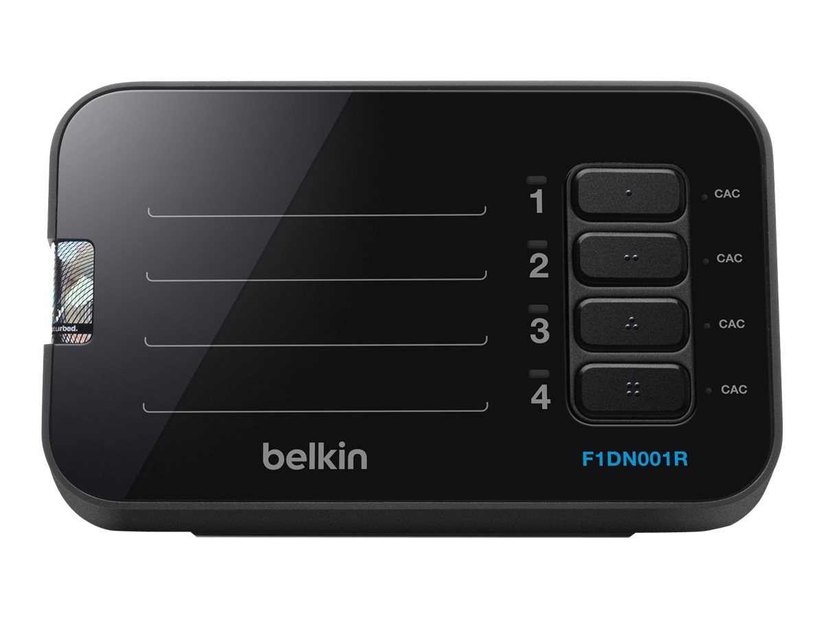 Belkin 4-Button Desktop Controller Unit for 2 4-port Secure KVM Switches, F1DN001R