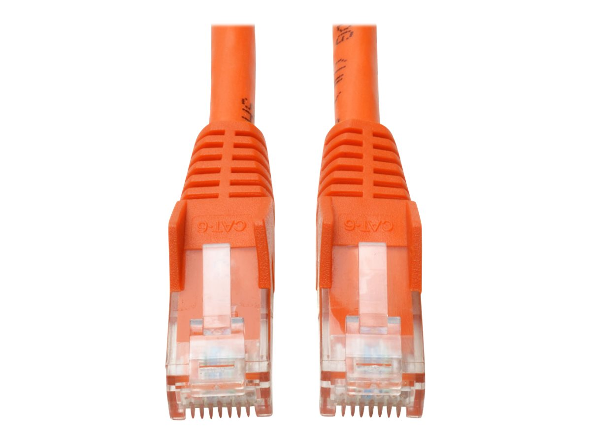 Tripp Lite Cat6 UTP Gigabit Ethernet Patch Cable, Orange, Snagless, 5ft, N201-005-OR