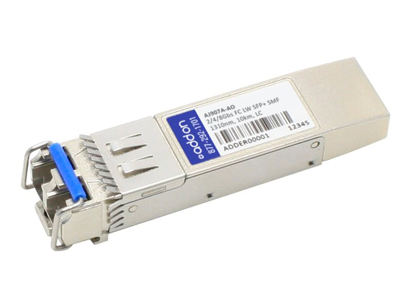 ACP-EP 2 4 8GBPS FC SFP+ SMF LW 1310NMPERP10KM LC GUARANTEED HP COMPATIBLE, AJ907A-AO