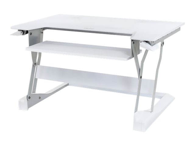 Ergotron WorkFit-T Sit-Stand Desktop Workstation, White, 33-397-062, 18161881, Furniture - Miscellaneous