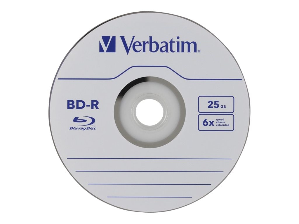 Verbatim 6x 25GB BD-R Media (25-pack Spindle), 97457, 12111867, Blu-Ray Media