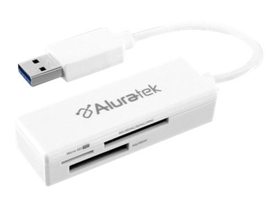Aluratek USB 3.0 SD MicroSD MiniSD Multi-Media Card Reader, AUCR300F, 18418157, PC Card/Flash Memory Readers