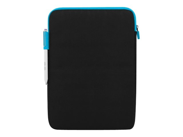 Incipio Asher Sleeve Premium Nylon Sleeve for 10 11 Devices, Black Cyan, MRSF-086-BKCYN