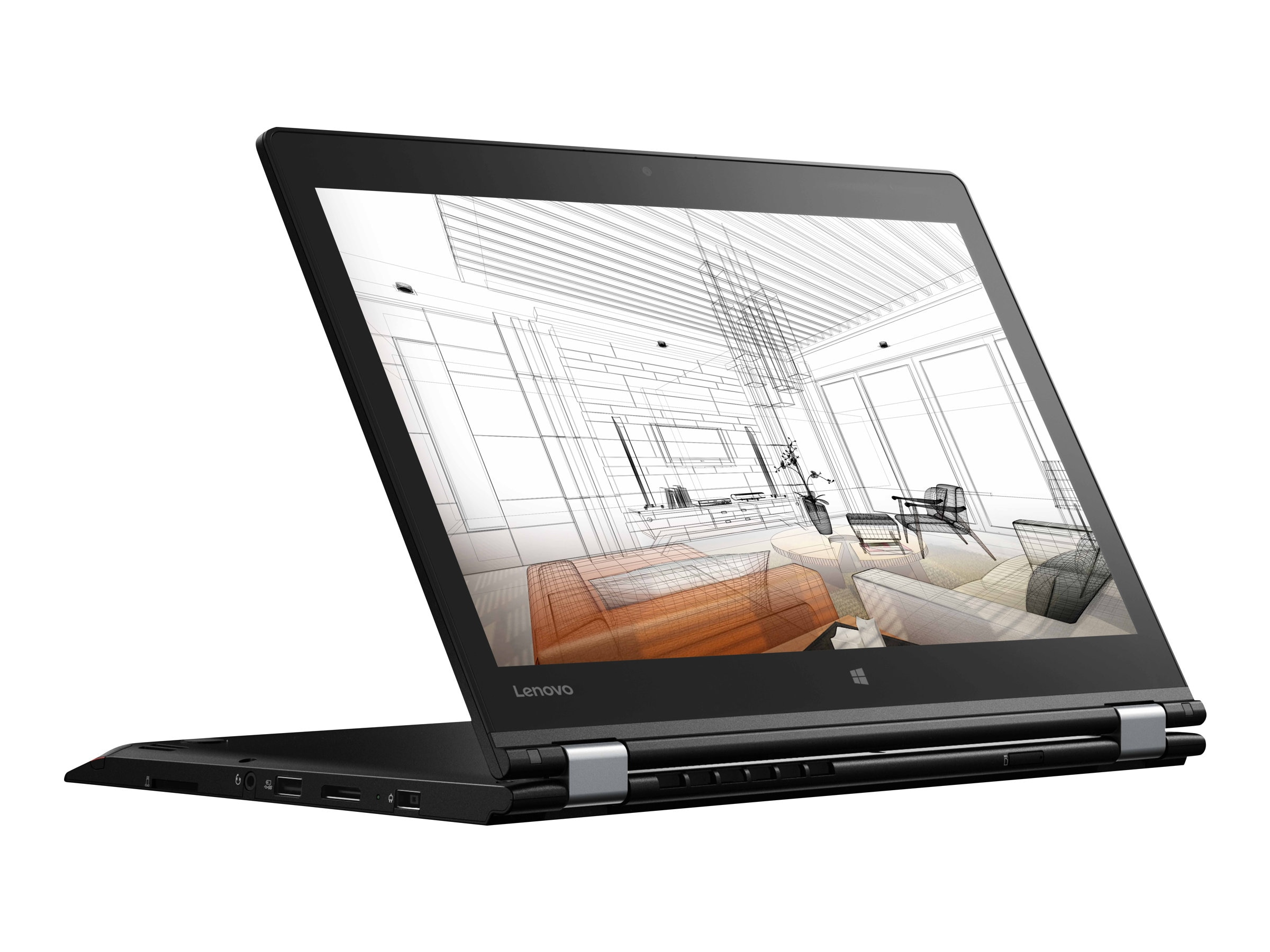 Lenovo TopSeller ThinkPad P40 Yoga Core i7-6600U 2.6GHz 8GB 256GB OPAL2 ac BT FR WC Pen 14 FHD MT W10P64, 20GQ000CUS
