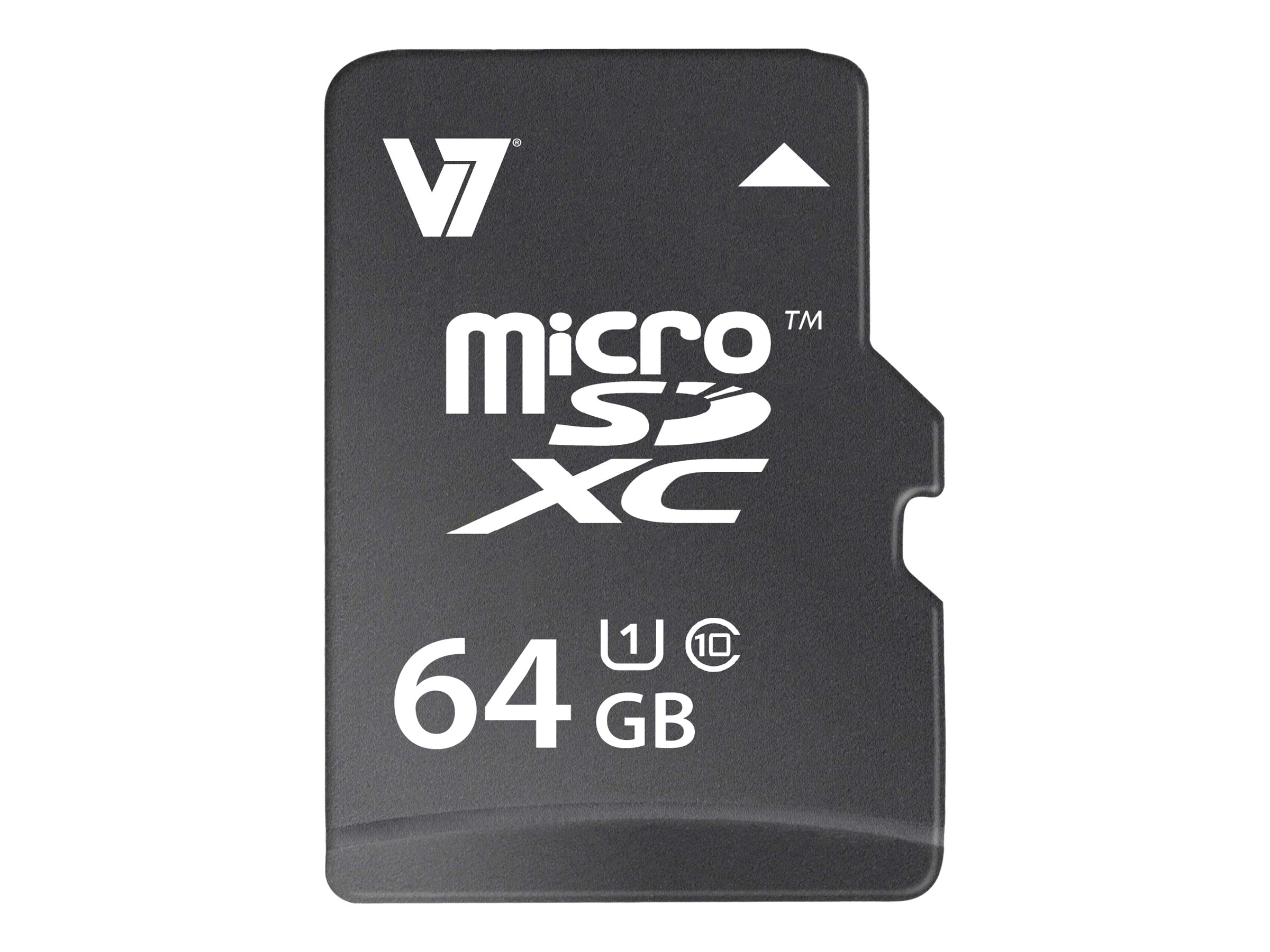 V7 64GB Micro SDXC Flash Memory Card, Class 10, VAMSDX64GUHS1R-2N