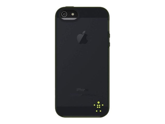 Belkin Grip Candy Sheer Case, Glow Blacktop for iPhone 5, F8W138TTC01, 14860811, Carrying Cases - Phones/PDAs