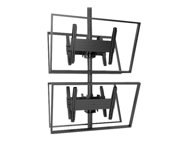 Chief Manufacturing Fusion Medium Back-to-Back Stacked Ceiling Mounts for 26-50 Displays, Black, MCB1X2U