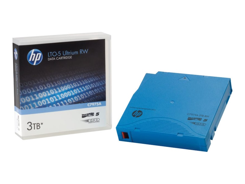 HPE 3TB LTO-5 Ultrium RW Data Cartridge, C7975A, 11298631, Tape Drive Cartridges & Accessories