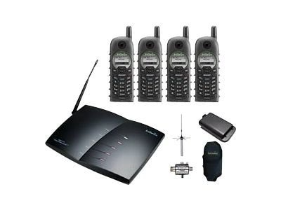 Engenius Technologies DuraPro Base Bundle w 4 Handsets and 20M External Antenna, DURAPRO-PIB20L-IND, 15749647, Telephones - Business Class