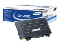 Samsung Cyan Toner Cartridge for Samsung CLP-510 Series Printers, CLP-510D2C