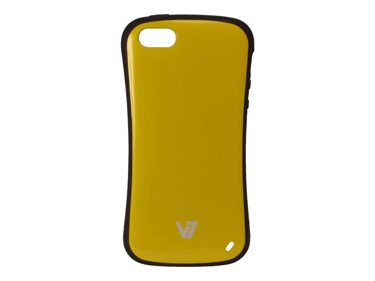 V7 Slim Survivor Bumper Hard Shell Protective PC PU Cover Case for iPhone 5, Yellow