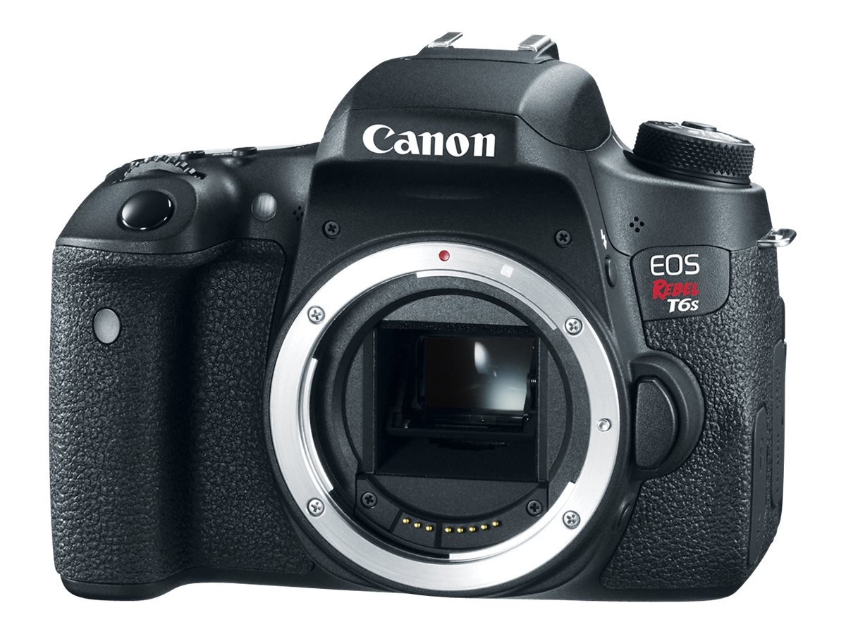 Canon EOS Rebel T6s DSLR Camera, Black (Body Only), 0020C001