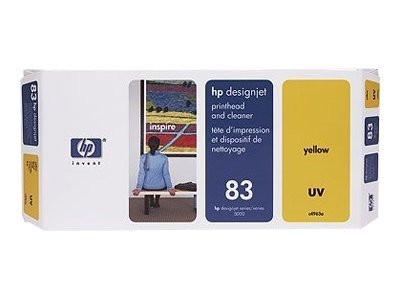 HP 83 Yellow UV Printhead & Cleaner, C4963A, 328175, Ink Cartridges & Ink Refill Kits