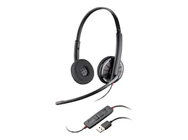 Plantronics BlackWire C320 Binaural Headset for PC Computers, 85619-102, 31623147, Headsets (w/ microphone)