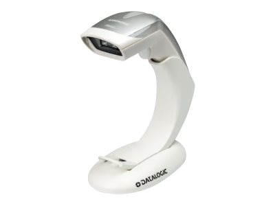 Datalogic HD3430, 2D Scanner, Stand, White