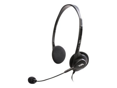 Cyber Acoustics Stereo Headset with Boom Microphone, AC-200B