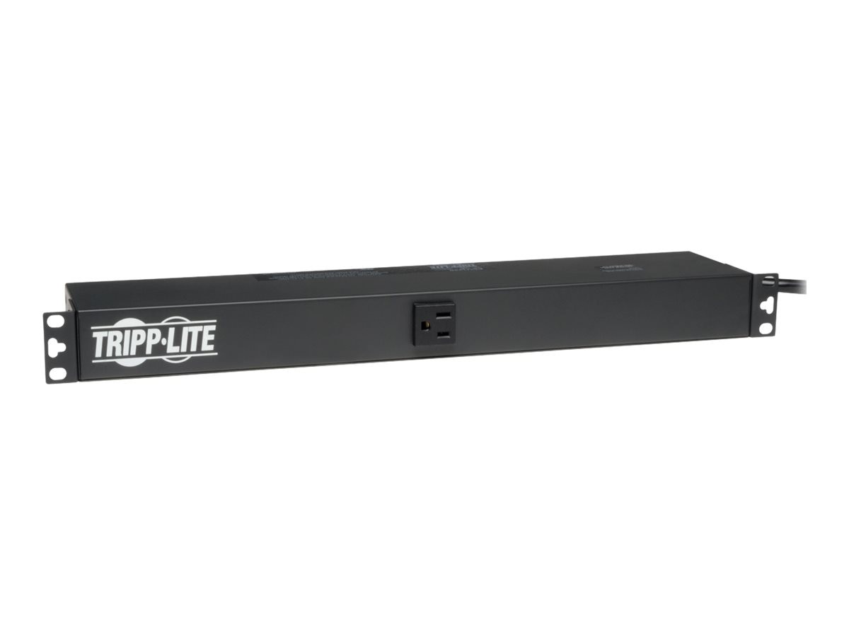 Tripp Lite PDU Basic 120V 15A 5-15R (13) Outlet 5-15P Horizontal 1U RM, PDU1215, 364407, Power Distribution Units