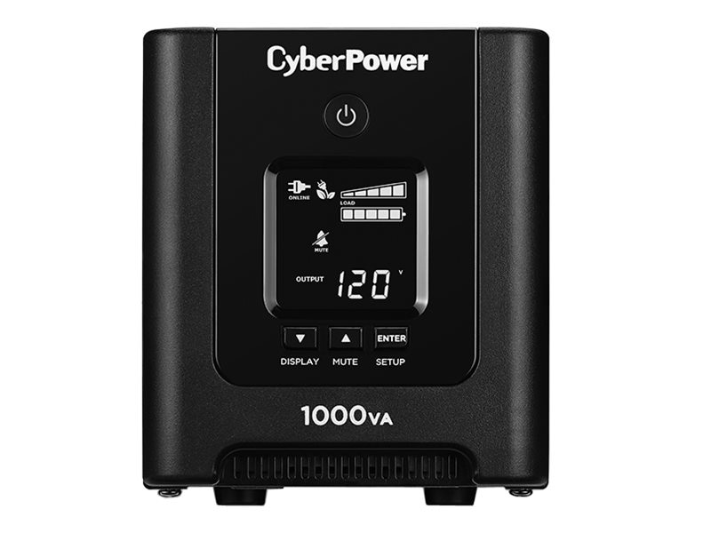 CyberPower PFC Sinewave 1000VA 700W 120V Line-Interactive Mini-tower UPS (8) Outlets USB, OR1000PFCLCD, 21982904, Battery Backup/UPS