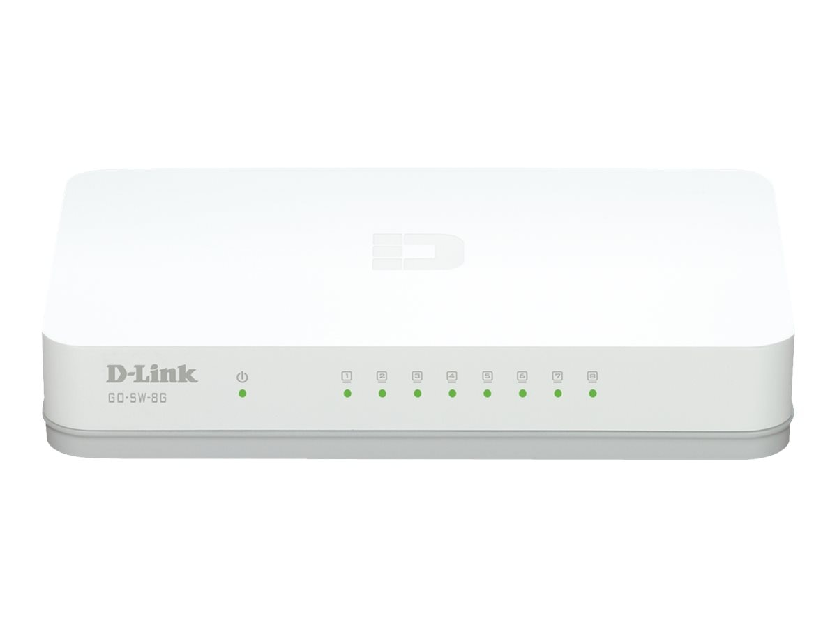 D-Link 8-Port Unmanaged Gigabit Switch, GO-SW-8GE, 15511575, Network Switches
