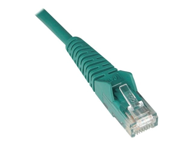 Tripp Lite Cat6 Snagless Patch Cable, Green, 12ft