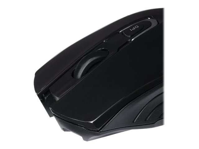 V7 Bluetooth 3.0 Optical Mouse Mid-size 4-button, Selectable Resolution Up to 1600dpi, MV6000-BT-BLK-15NB